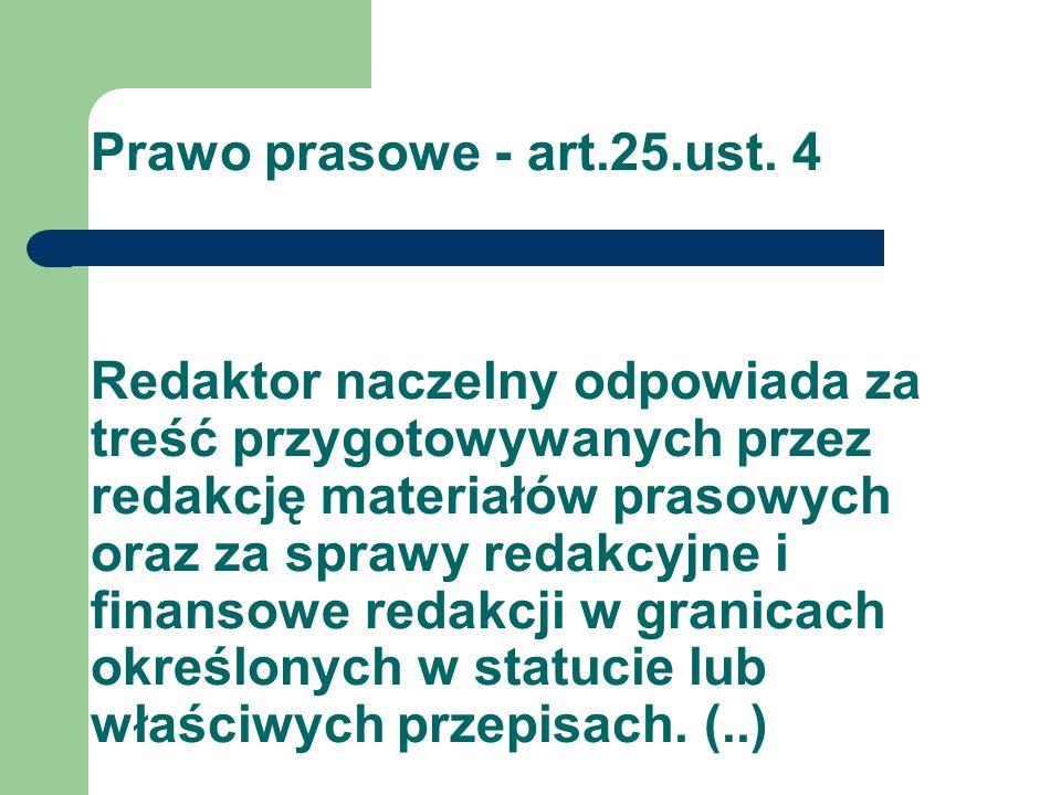 Prawo prasowe - art.25.ust.