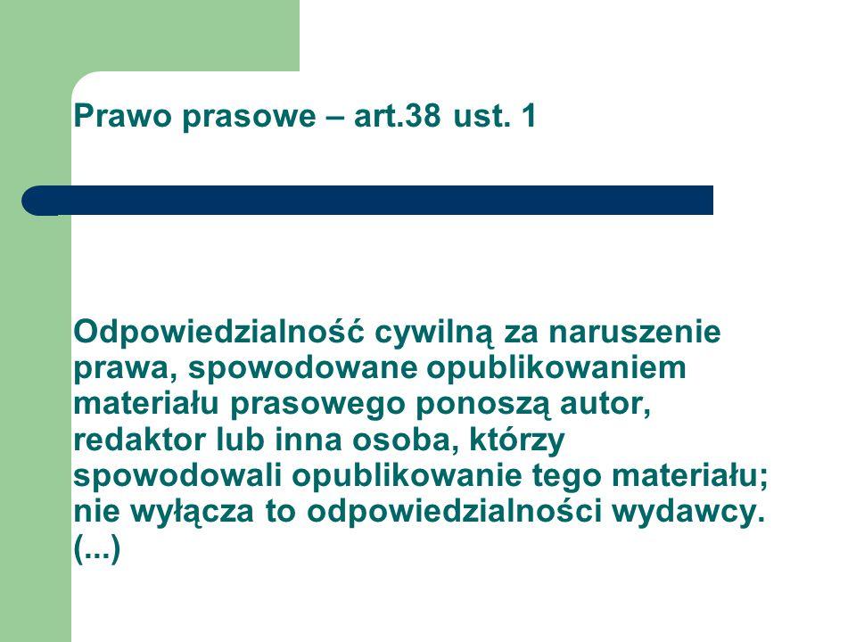 Prawo prasowe – art.38 ust.