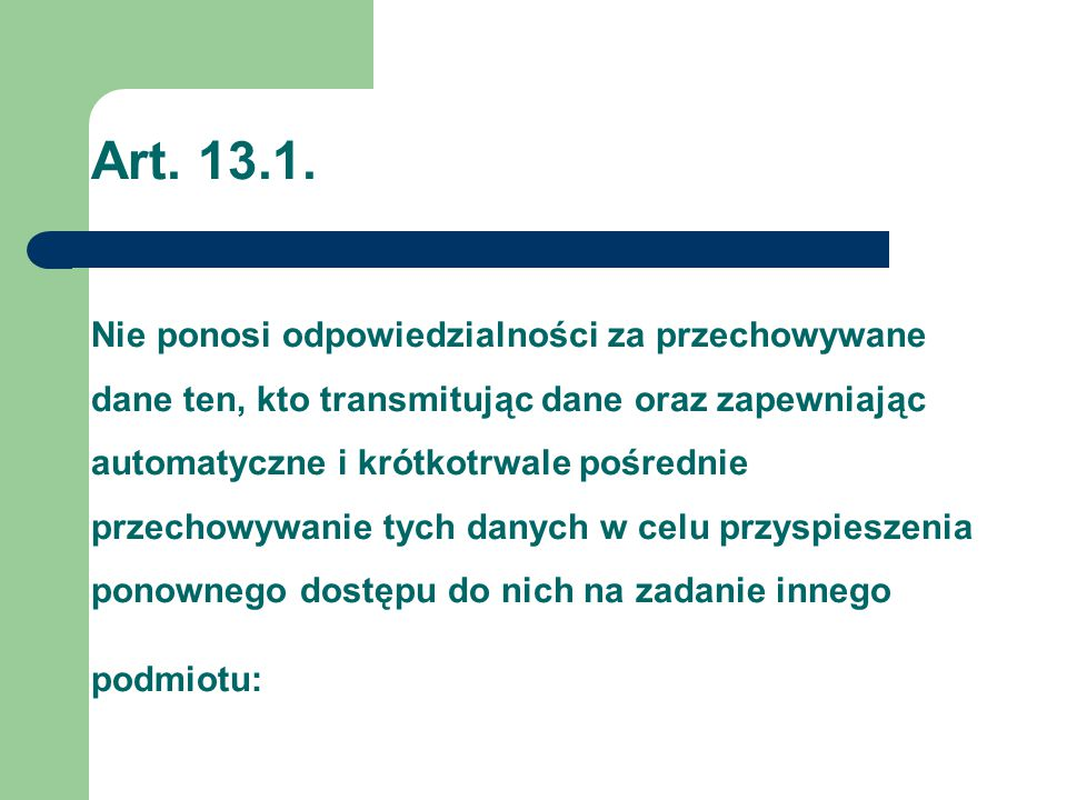 Art. 13.1.