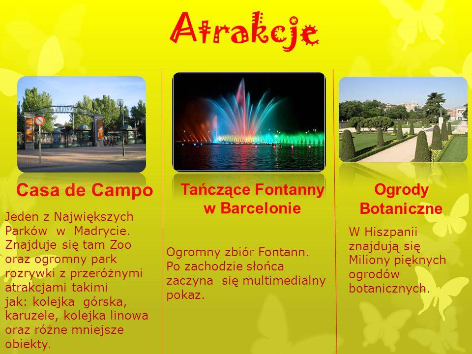Atrakcje Casa de Campo Tańczące Fontanny w Barcelonie