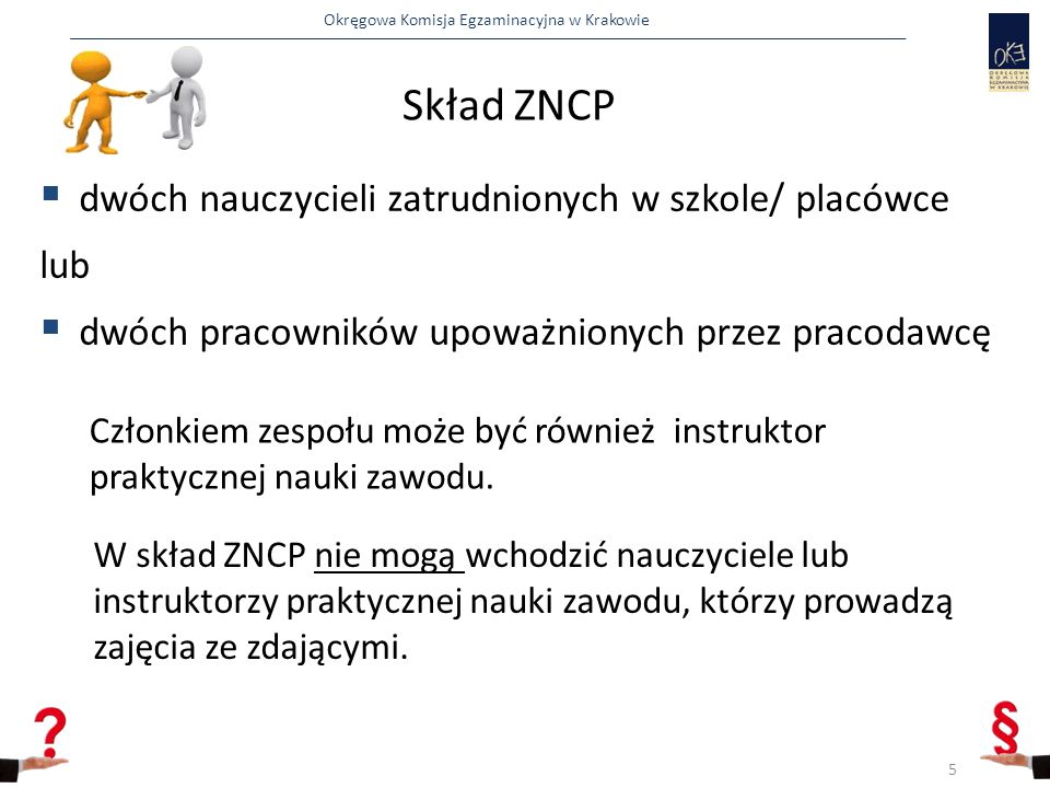Skład ZNCP dwóch nauczycieli zatrudnionych w szkole/ placówce lub