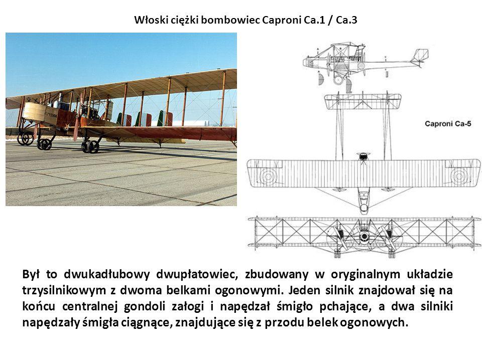 Włoski ciężki bombowiec Caproni Ca.1 / Ca.3
