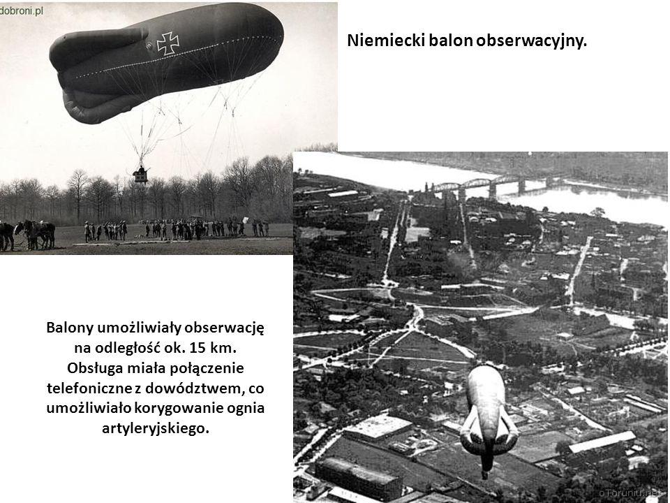 Niemiecki balon obserwacyjny.
