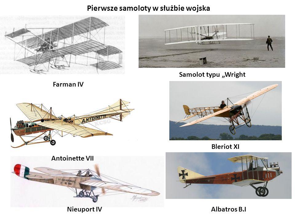 Pierwsze samoloty w służbie wojska
