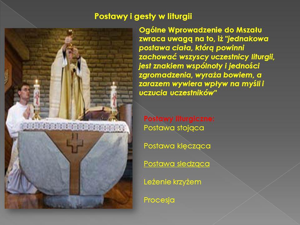 Postawy i gesty w liturgii