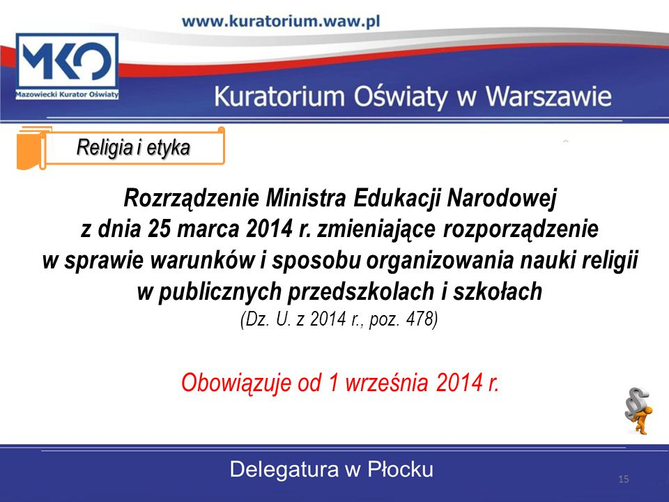 Obowiązuje od 1 września 2014 r.