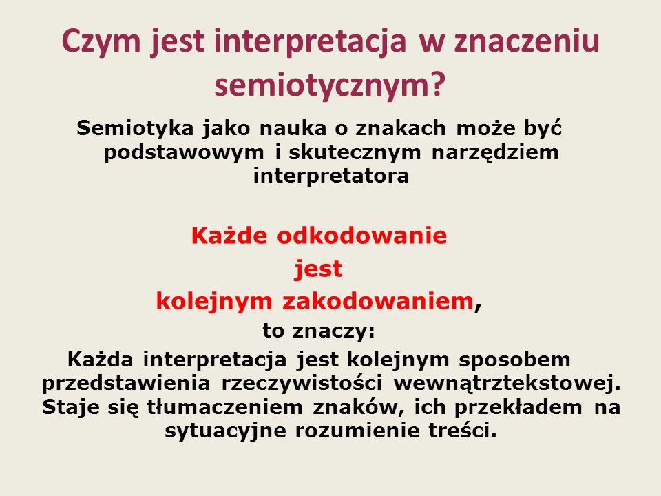 Czym jest interpretacja w znaczeniu semiotycznym