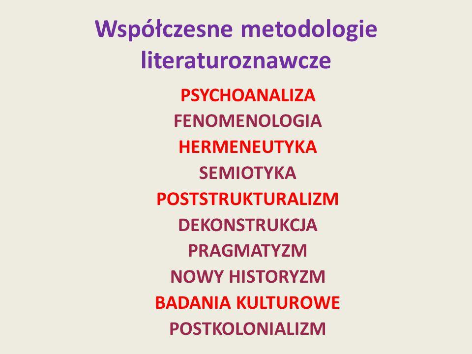 Współczesne metodologie literaturoznawcze