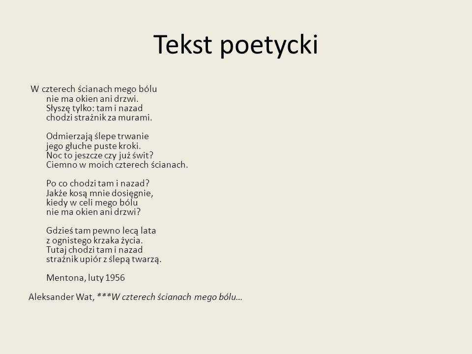 Tekst poetycki