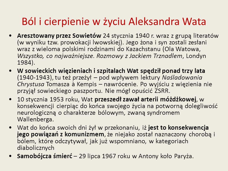 Ból i cierpienie w życiu Aleksandra Wata