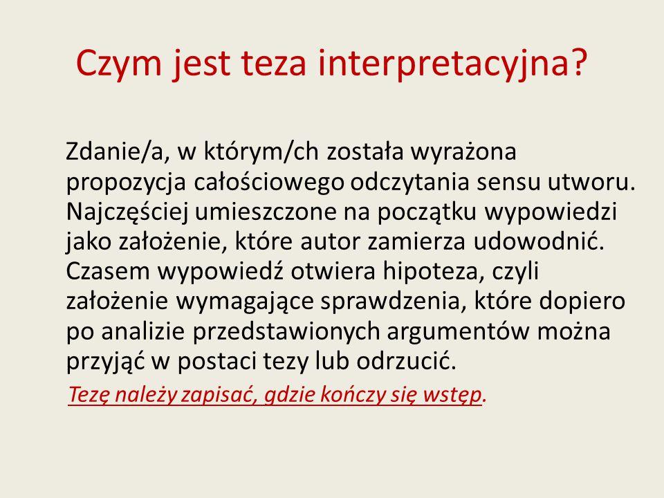 Czym jest teza interpretacyjna