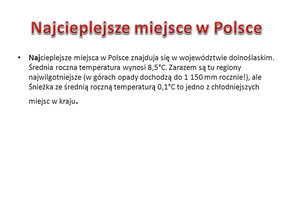 Najcieplejsze miejsce w Polsce