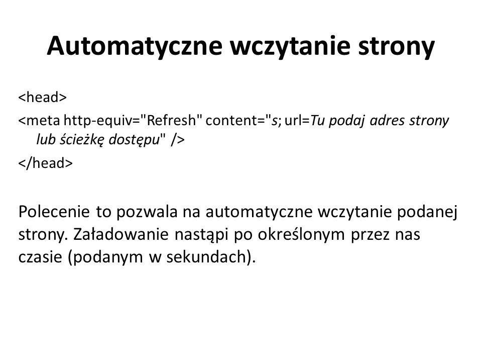Automatyczne wczytanie strony