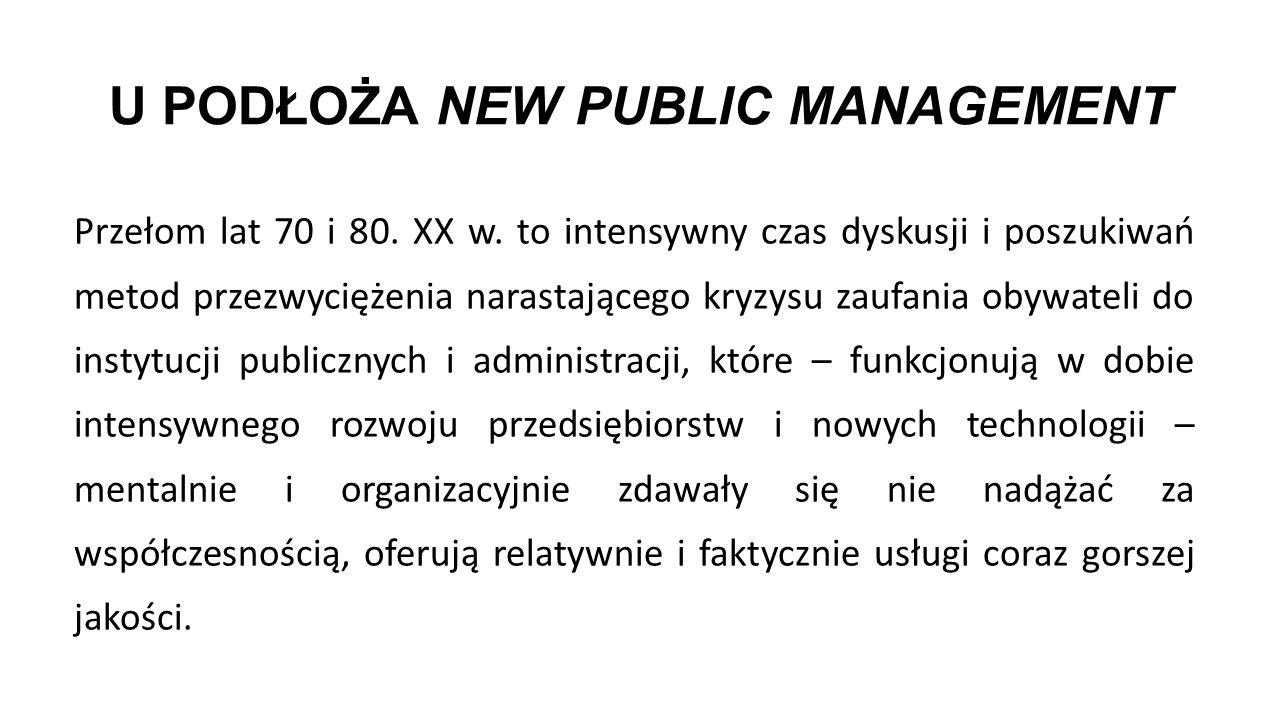 U PODŁOŻA NEW PUBLIC MANAGEMENT