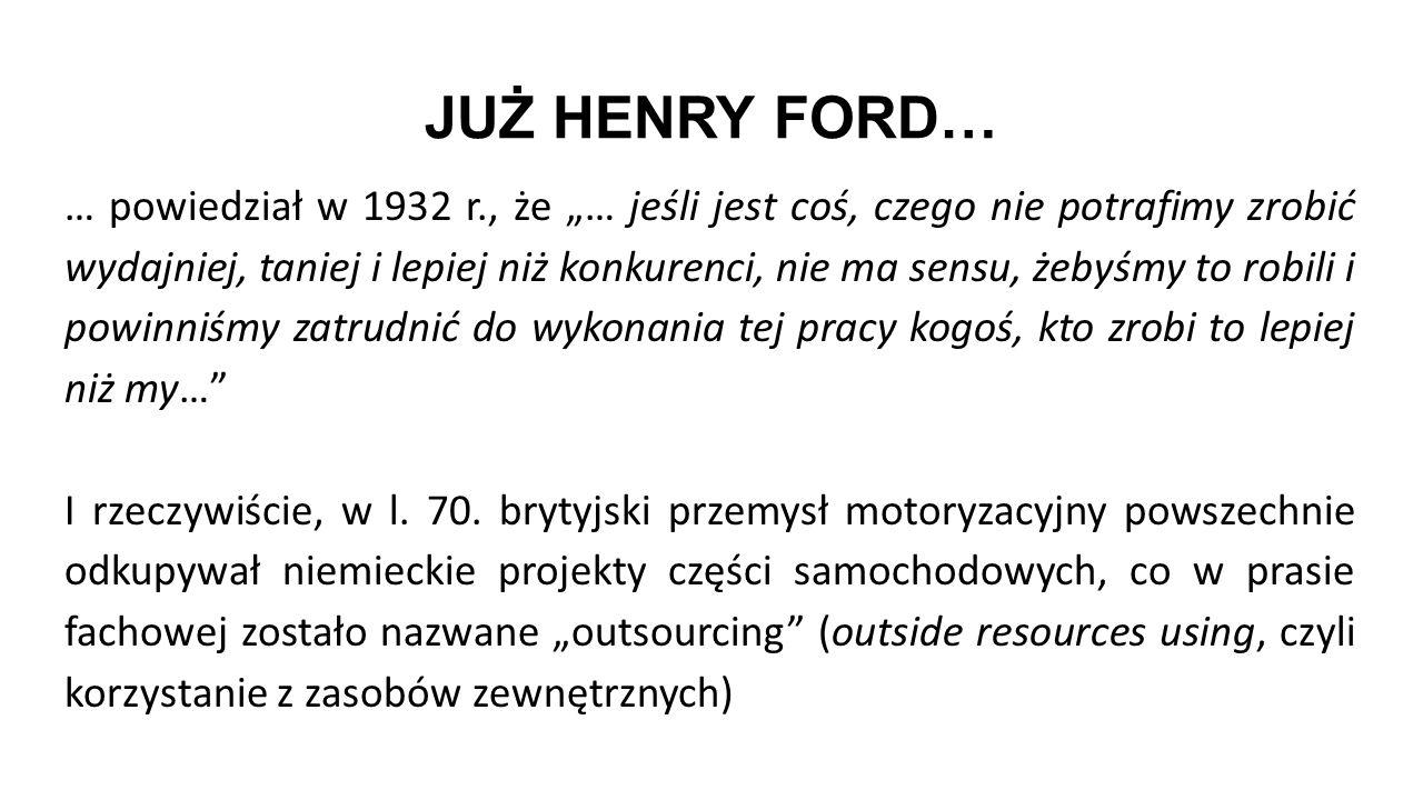 JUŻ HENRY FORD…