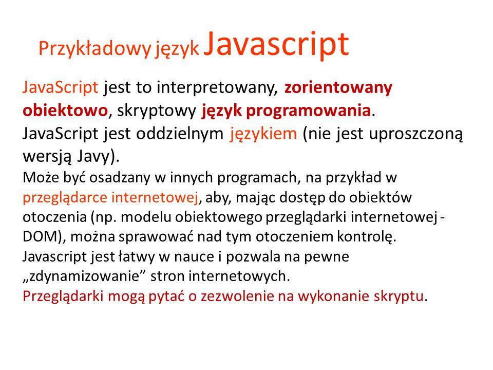 Przykładowy język Javascript
