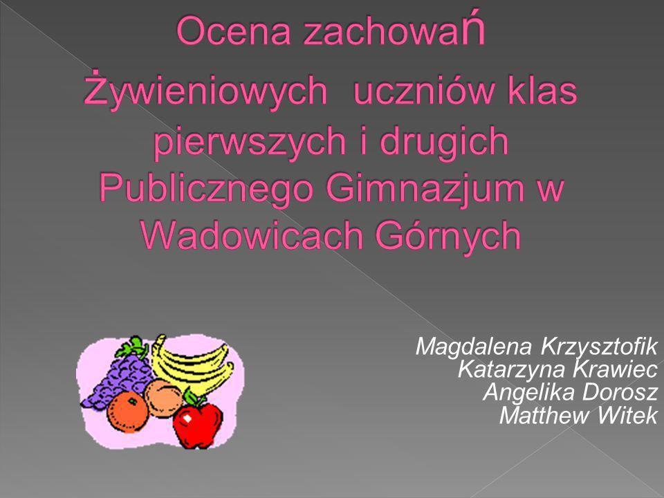 Magdalena Krzysztofik Katarzyna Krawiec Angelika Dorosz Matthew Witek