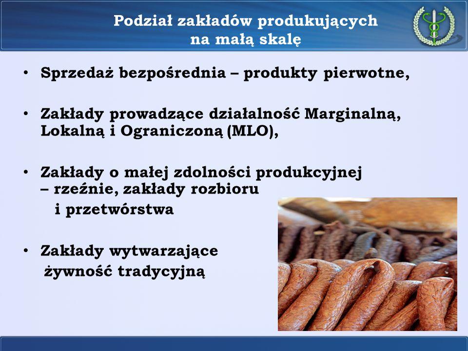 Podział zakładów produkujących na małą skalę