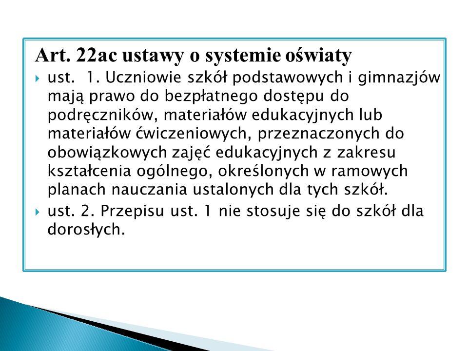 Art. 22ac ustawy o systemie oświaty