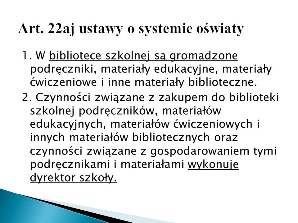Art. 22aj ustawy o systemie oświaty