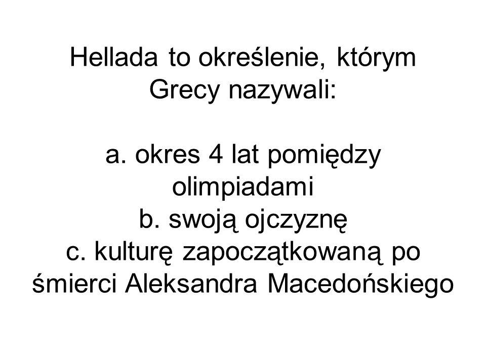 Hellada to określenie, którym Grecy nazywali: a