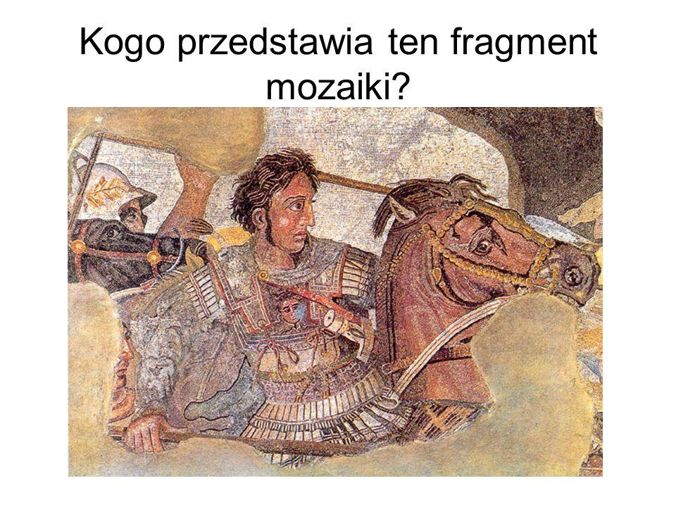 Kogo przedstawia ten fragment mozaiki