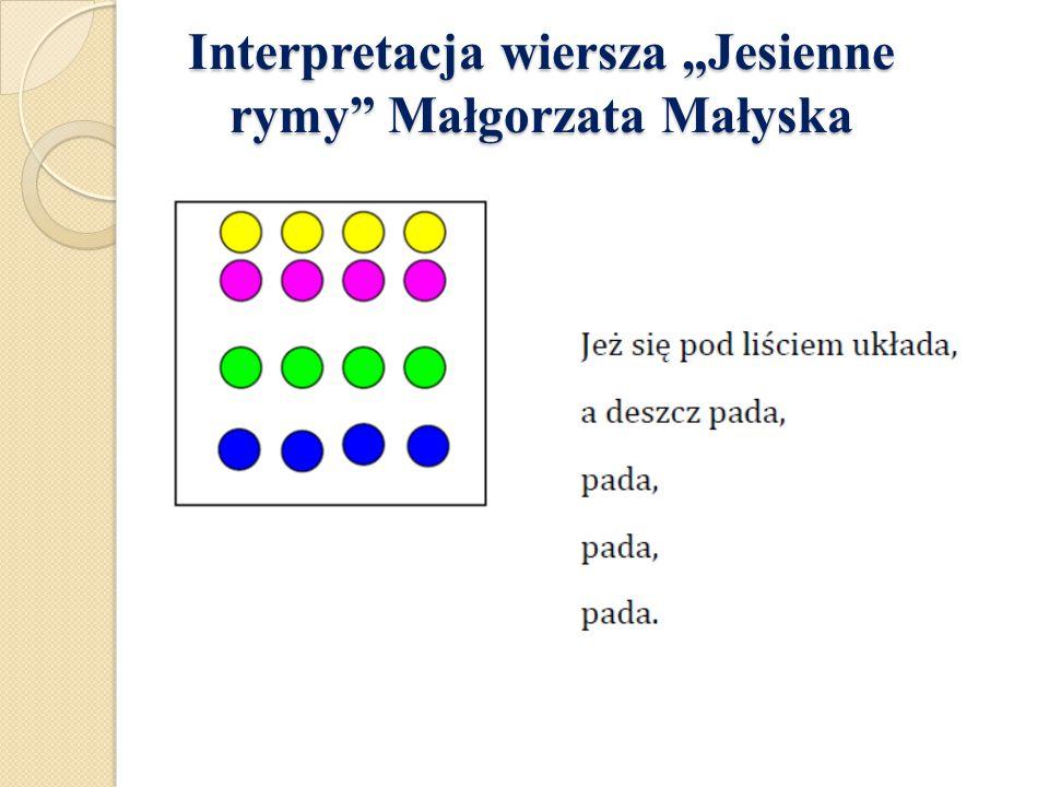 """Interpretacja wiersza """"Jesienne rymy Małgorzata Małyska"""