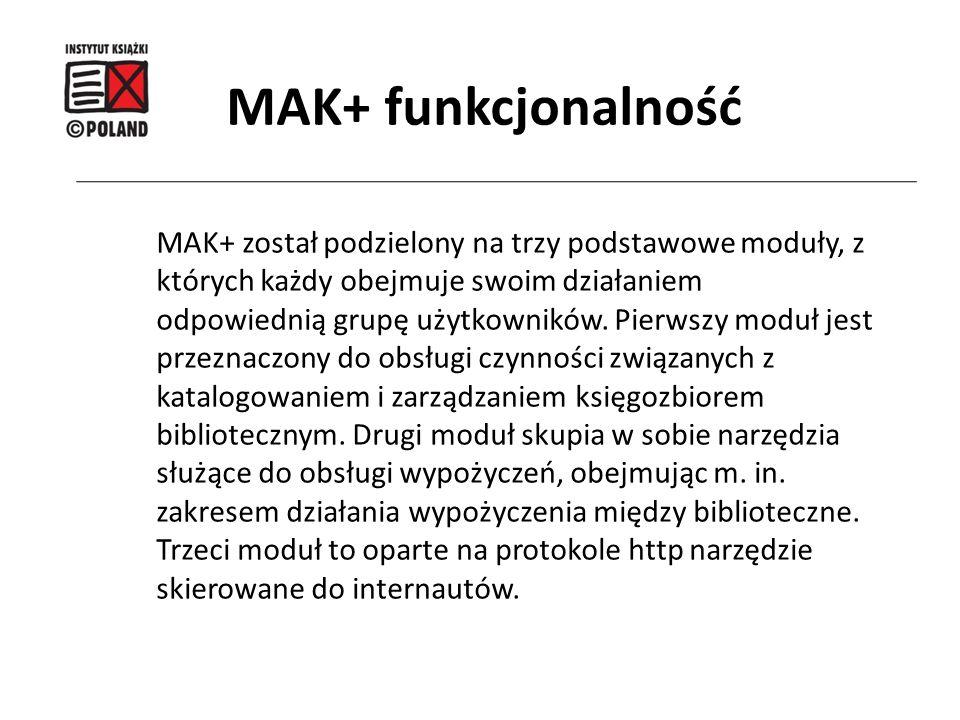 MAK+ funkcjonalność