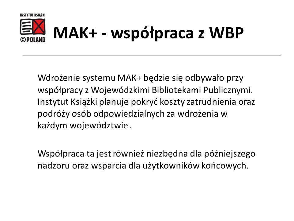 MAK+ - współpraca z WBP