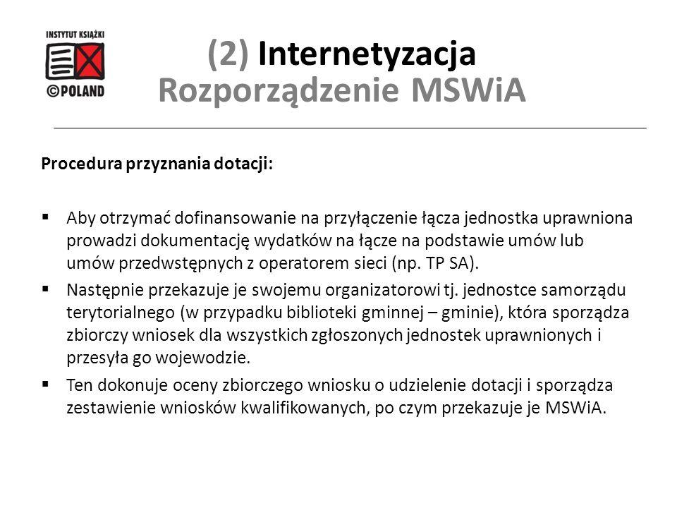 (2) Internetyzacja Rozporządzenie MSWiA