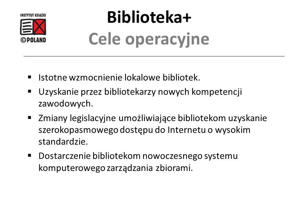 Biblioteka+ Cele operacyjne