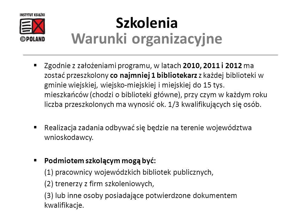 Warunki organizacyjne