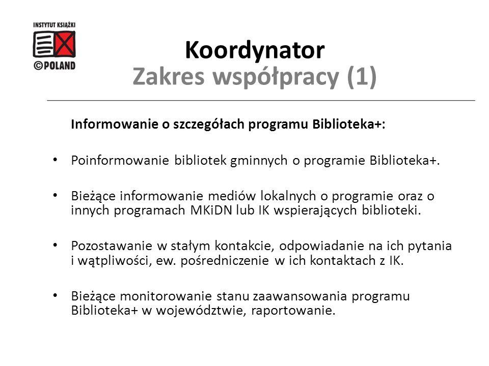 Koordynator Zakres współpracy (1)