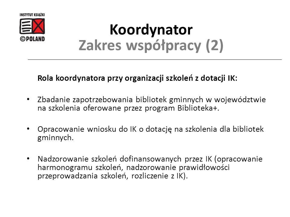 Koordynator Zakres współpracy (2)