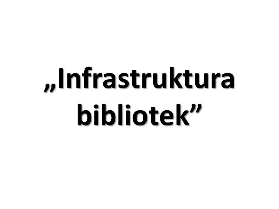 """Infrastruktura bibliotek"