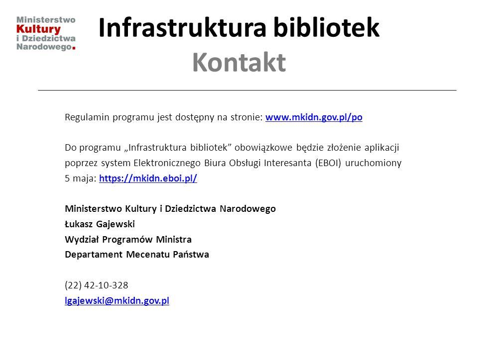 Infrastruktura bibliotek Kontakt