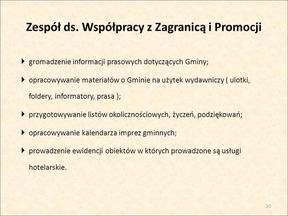 Zespół ds. Współpracy z Zagranicą i Promocji