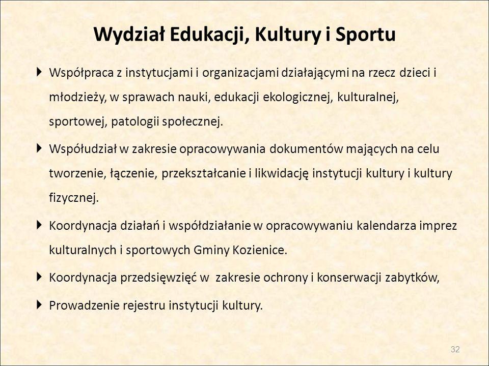 Wydział Edukacji, Kultury i Sportu