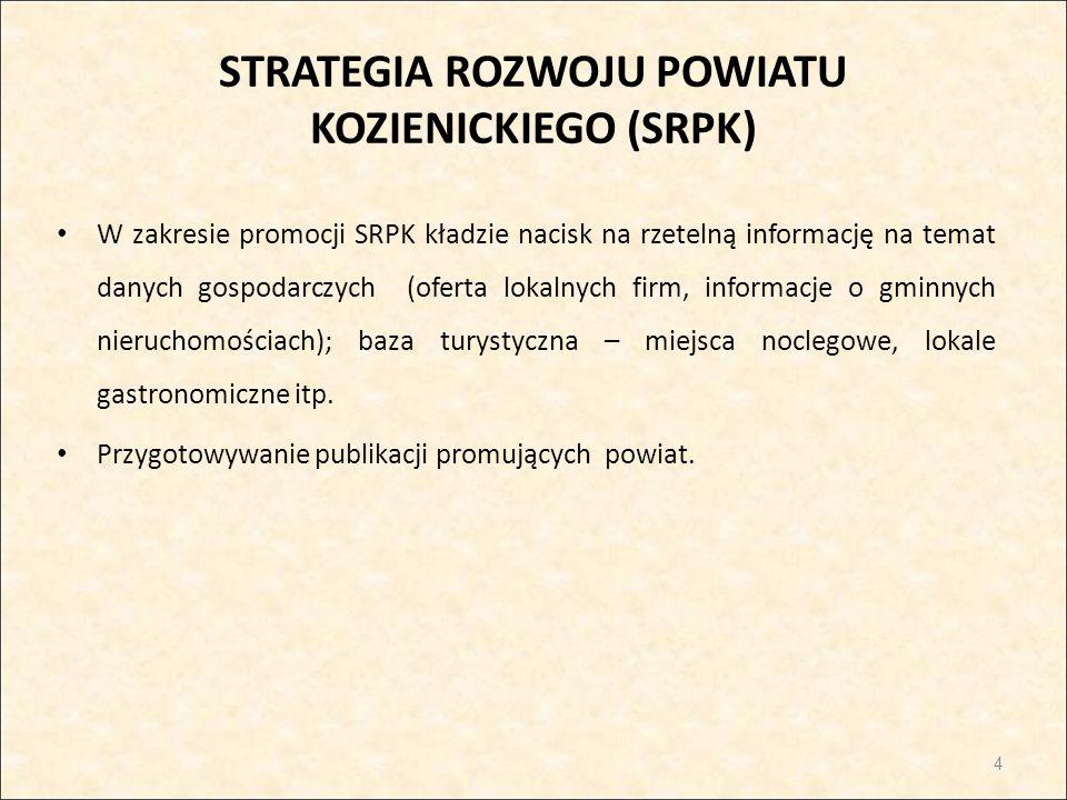 STRATEGIA ROZWOJU POWIATU KOZIENICKIEGO (SRPK)
