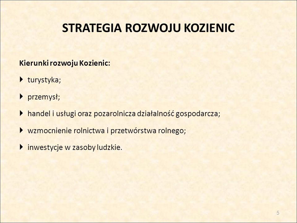 STRATEGIA ROZWOJU KOZIENIC