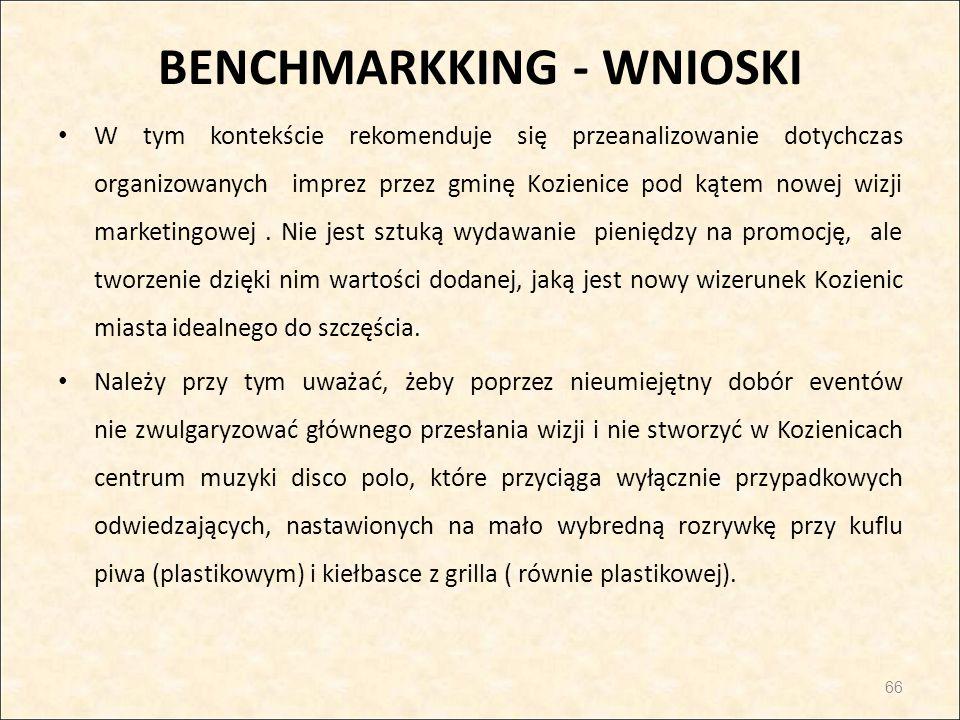 BENCHMARKKING - WNIOSKI