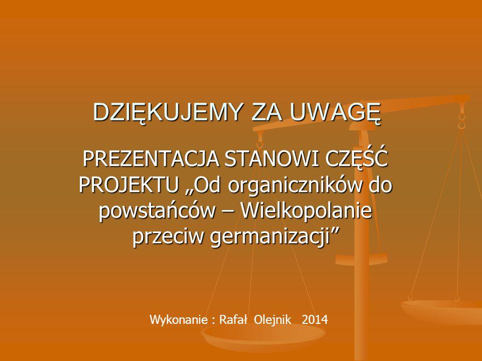 Wykonanie : Rafał Olejnik 2014