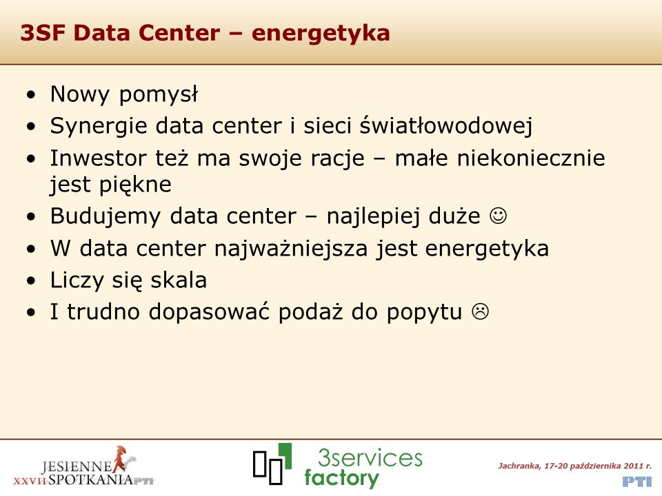 3SF Data Center – energetyka