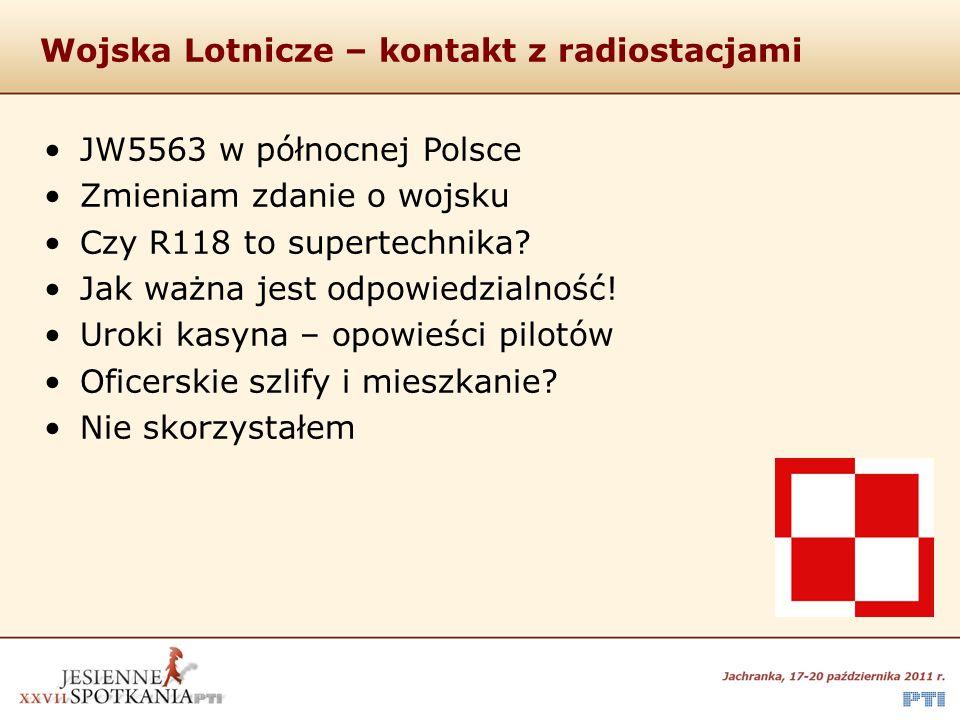 Wojska Lotnicze – kontakt z radiostacjami