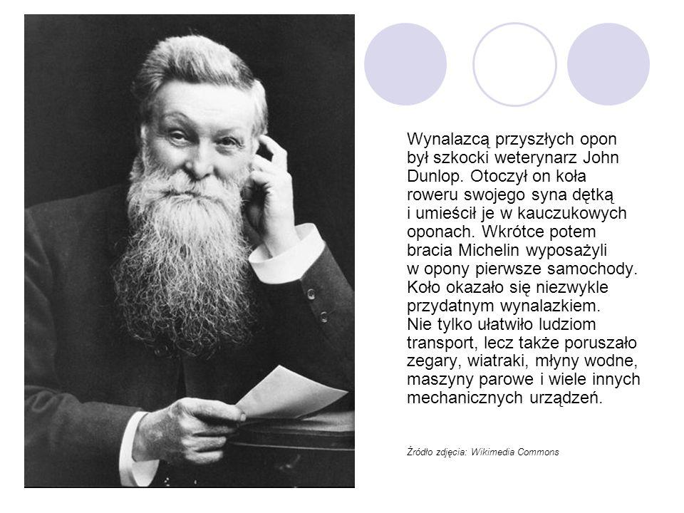 Wynalazcą przyszłych opon był szkocki weterynarz John Dunlop