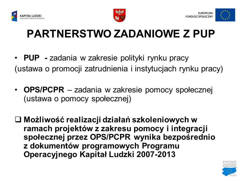 PARTNERSTWO ZADANIOWE Z PUP