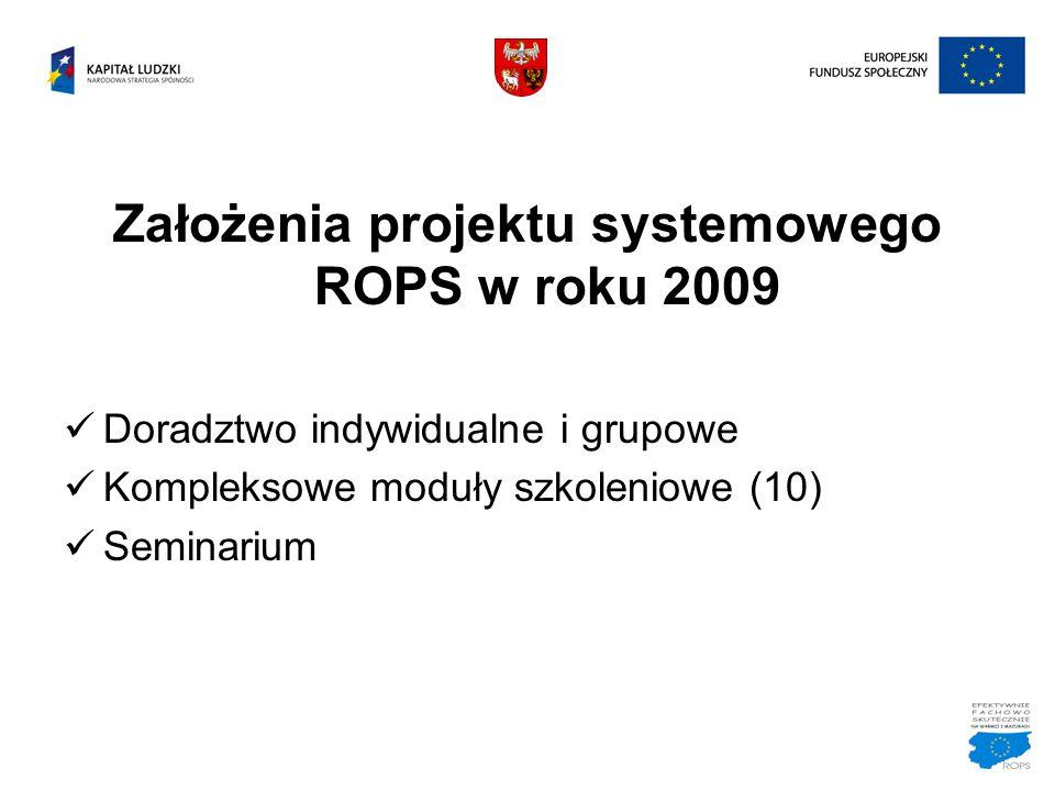Założenia projektu systemowego ROPS w roku 2009