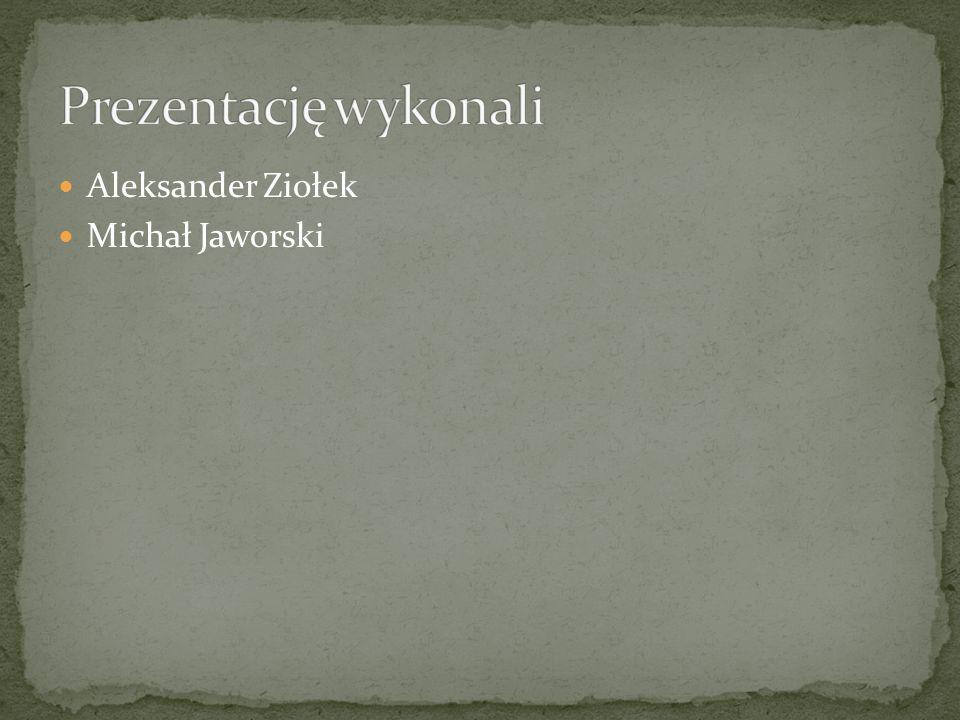 Prezentację wykonali Aleksander Ziołek Michał Jaworski
