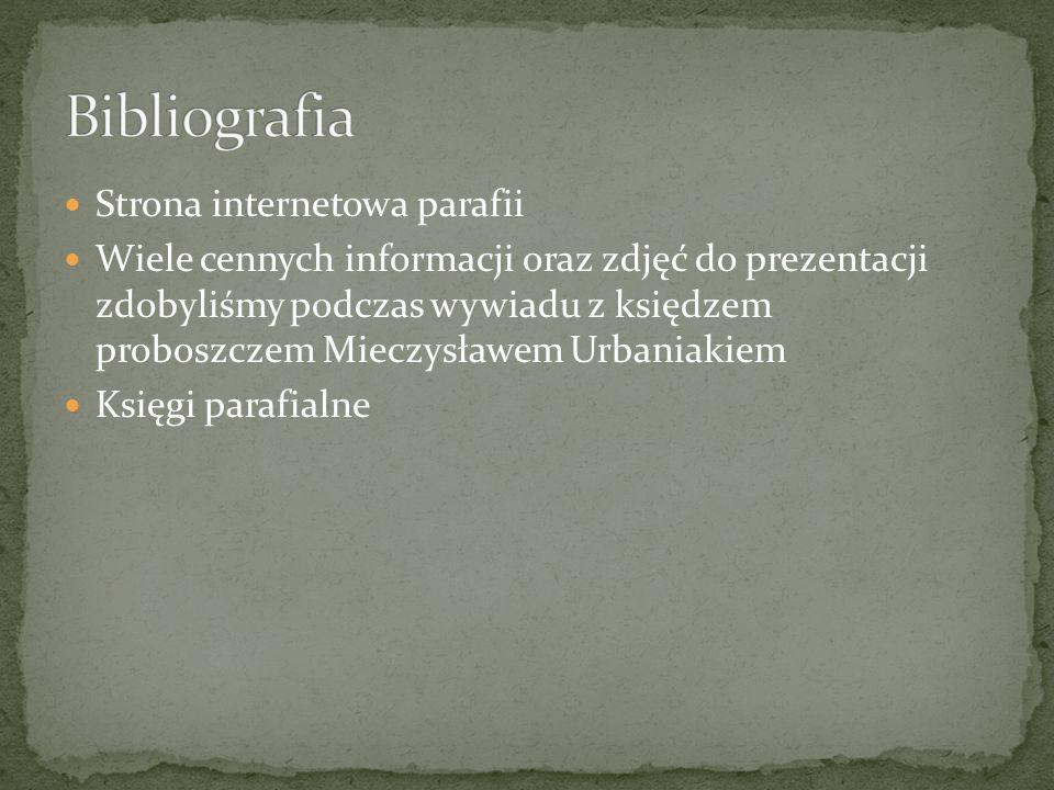 Bibliografia Strona internetowa parafii