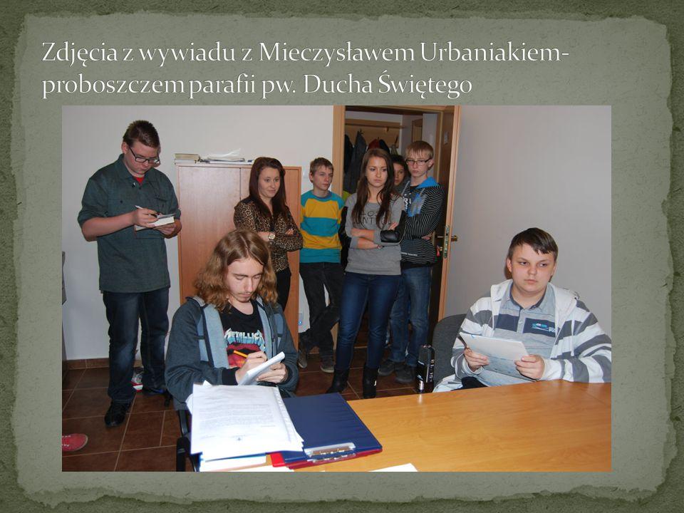 Zdjęcia z wywiadu z Mieczysławem Urbaniakiem-proboszczem parafii pw